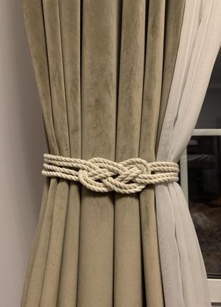 Подхваты для штор. підхвати для штр. підвязки для штор. макраме.