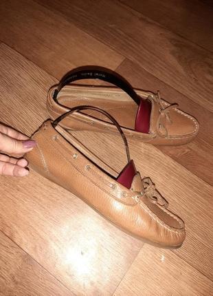 Натуральные кожаные( верх и середина) туфли мокасины roberto santi active! размер 38