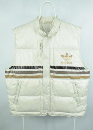 Оригинальная пуховая жилетка adidas down vest