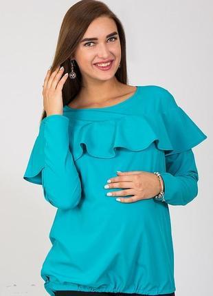 Кофта блузка для беременных и кормящих нарядная