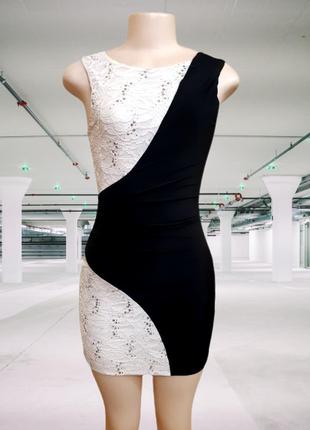 Вечернее комбинированное стрейчевое платье cameo rose, xs-s, англия
