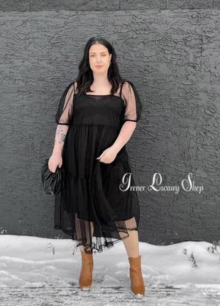 Sale элегантное платье сетка h&m 52-54-56-60