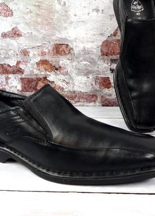 """Мягкие прочные кожаные туфли """"gallus""""! германия! 45 р. 30 см."""