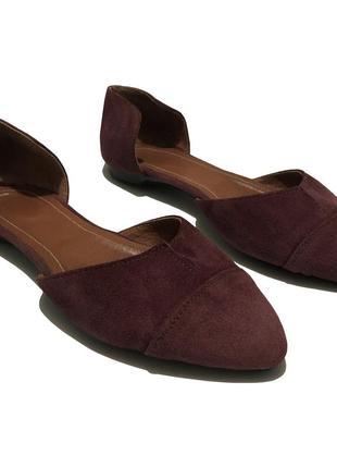 Балетки мюли открытые туфли