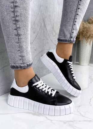 Женские туфли кеды кожаные