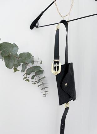Поясна сумочка з красивим ремінцем