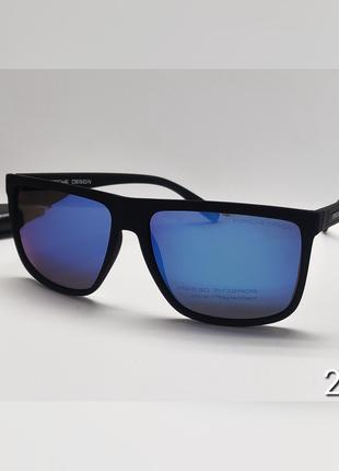 Сонцезахисні окуляри чоловічі сині поляризація матова оправа