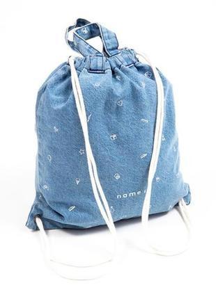 Джинсовая сумка-рюкзачок