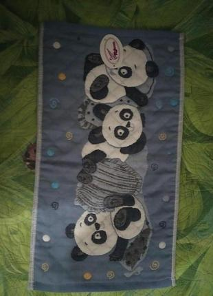 """Кухонное льняное полотенце """" панда"""""""