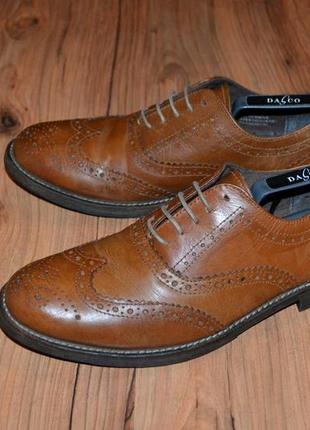 Туфли броги george - 42 размер кожа