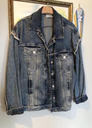 Пиджак джинсовый mango