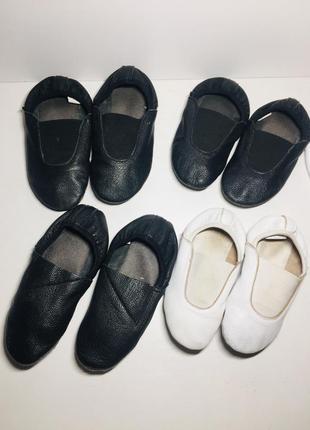 Чешки чёрные белые кожаные 25 23 22 26 размер1 фото