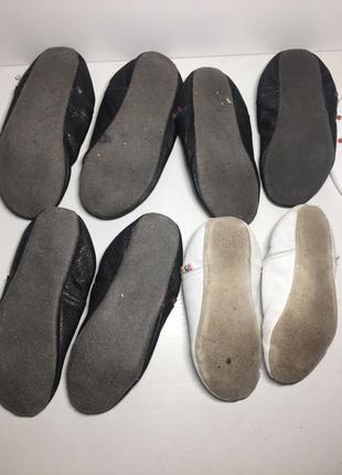 Чешки чёрные белые кожаные 25 23 22 26 размер2 фото