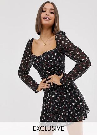 🌿 платье с флористическим принтом от missguided