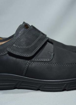 Jomos туфли мужские кожаные на липучке. германия. оригинал. 45 р./30 см.