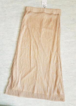 Гофрированная миди юбка mango