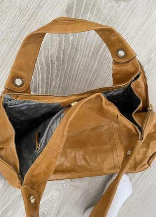 Испанская кожаная сумка шопер clarks