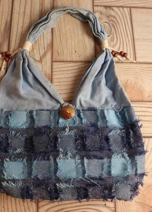 Синя - голубая джинсовая сумка