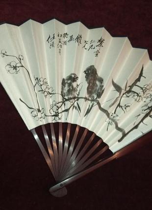 Сувенир,- веер из натурального дерева. япония.