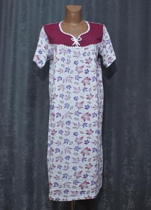 Ночнушка 48-58р., ночная рубашка, нічна сорочка бавовняна fazor