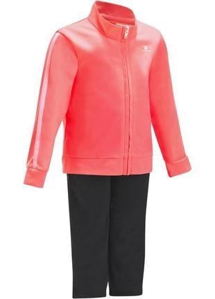 Новый детский спортивный костюм domyos на 3-5 лет. розовый
