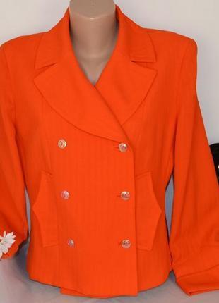 Брендовый оранжевый пиджак жакет блейзер christian lacroix bazar франция шерсть этикетка