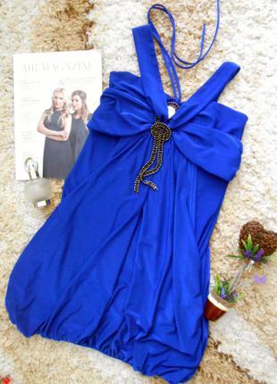 🎆распродажа🎆 платье василькового цвета с открытыми плечами