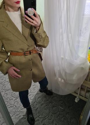 Винтажный удлинённый шерстяной пиджак, жакет оверсайз с мужского плеча burberry