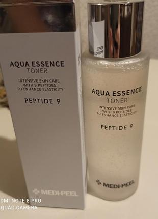 Увлажняющий тонер medi peel peptide 9 aqua essence toner