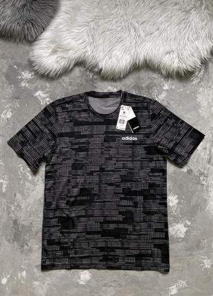 Оригинал! мужская футболка adidas ess aop tee 100% хлопок