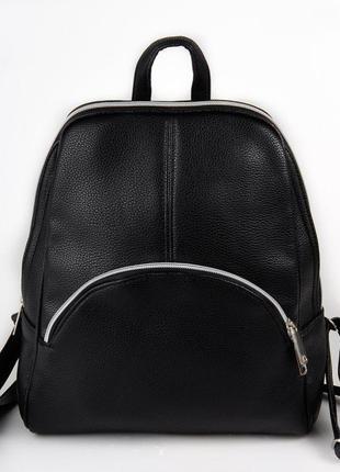 Черный фигурный модный женский рюкзак