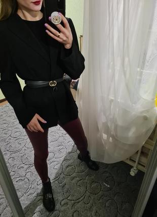 Винтажный удлинённый шерстяной пиджак, жакет прямого кроя laurel