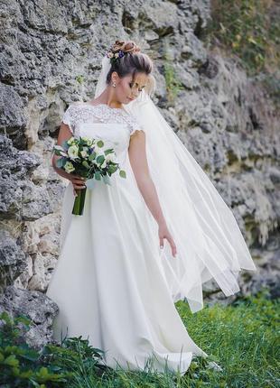 Ніжна весільна сукня на розмір xs, s