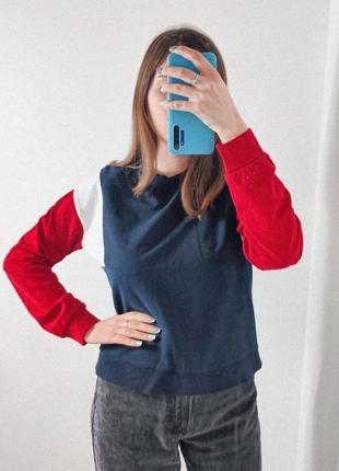 Женский свитшот кофта красный синий