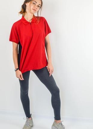 """Fjallraven футболка поло на молнии для бега и активного отдыха, спортивная """"лиса"""""""