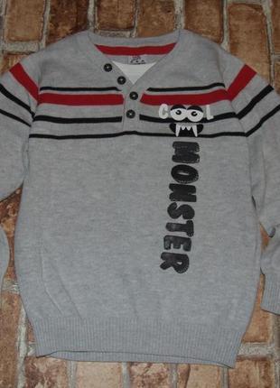 Кофта хлопковый свитер мальчику обманка 4 - 5 лет kiki&koko