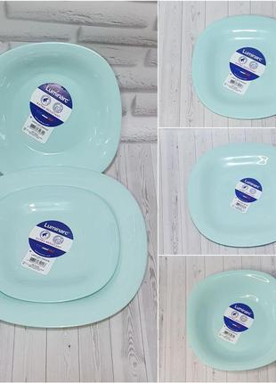 """Серия тарелок luminarc  """"carine light turquoise"""""""