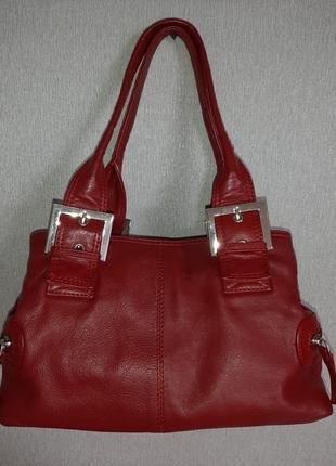 Кожаная красная сумка 👜 от clarks