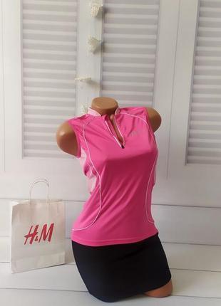 Футболка майка безрукавка розовая для бега тренировок, s/m