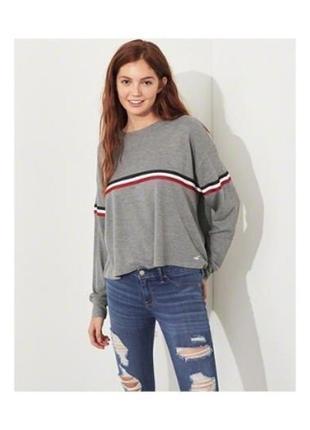 Лёгкий джемпер свитер свободного кроя от hollister оригинал м