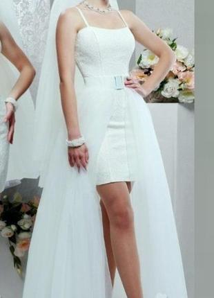 Весільна сукня міраж трансформер зі знімною спідницею