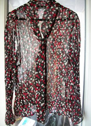 Прозрачная блузка marks&spencer