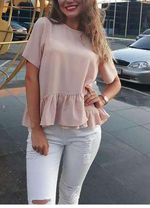 Блуза футболка рюши воланы