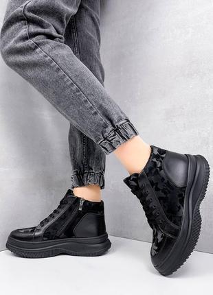 Кроссовки кожаные, ботинки кожаные, ботинки демисезонные