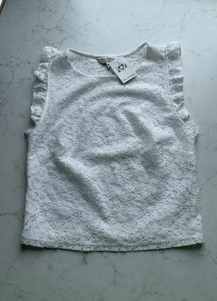 Кружевная блузка майка топ шитье прошва miss selfridge размер 8{36}