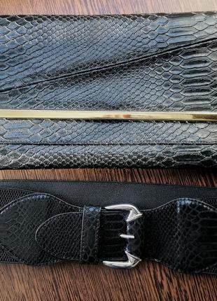 Клатч dorothy perkins и ремень в подарок (под платье, жакет, пиджак, колготы, чулки, юбка)