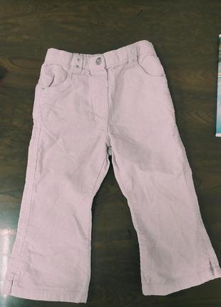 ❗1+1=3 розовые джинсы с люрексом 12-18 мес