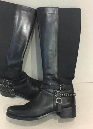 Демисезонные кожаные  сапоги стелька 25 см