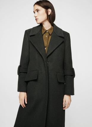 Шерстяное пальто mango/удлиненное пальто mango 80% шерсть