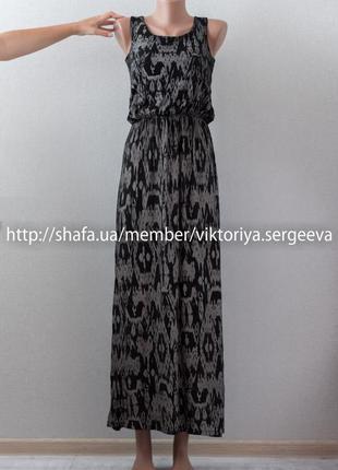 Красивое вискозное платье миди длины